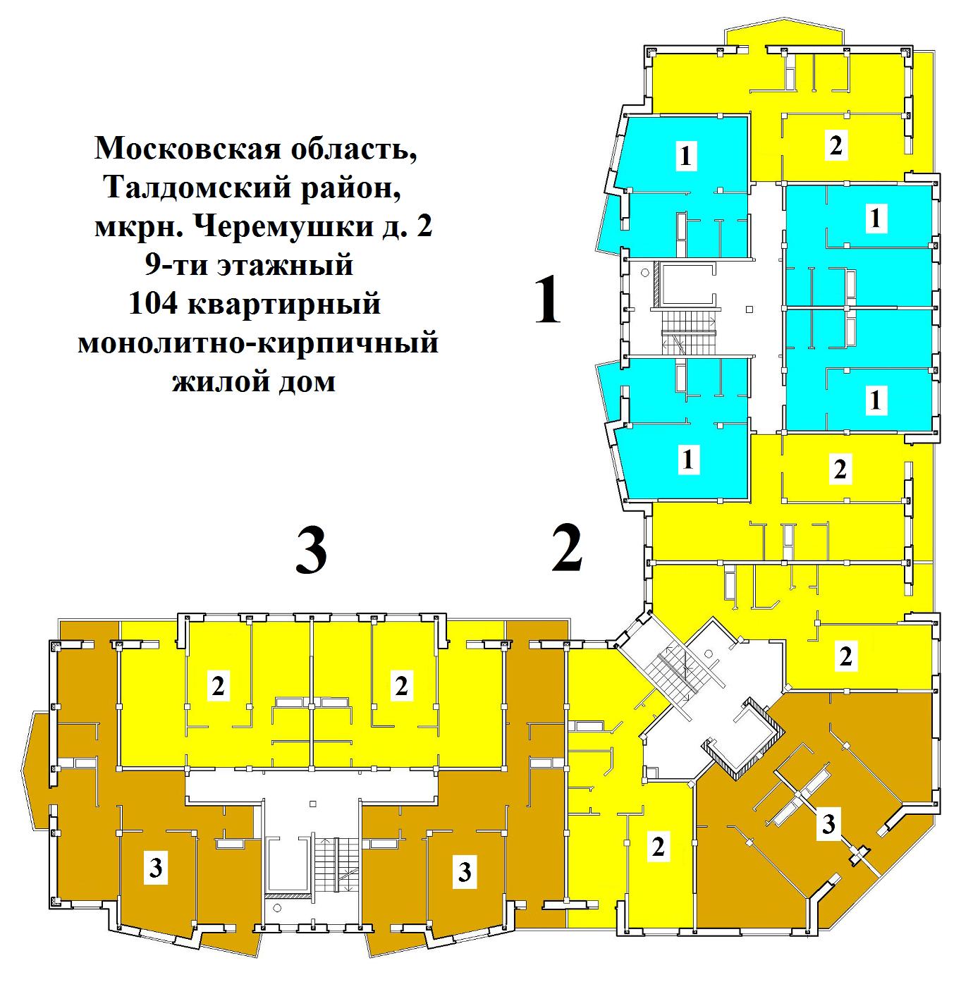 Планировки квартир дома № 2
